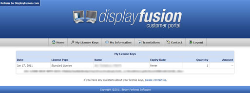 DisplayFusion Customer Portal