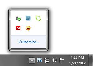 Taskbar Tray Icons