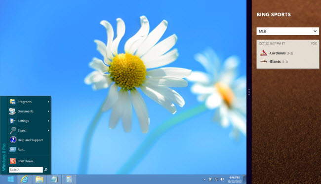 Windows 8: DisplayFusion Taskbar with Start Menu