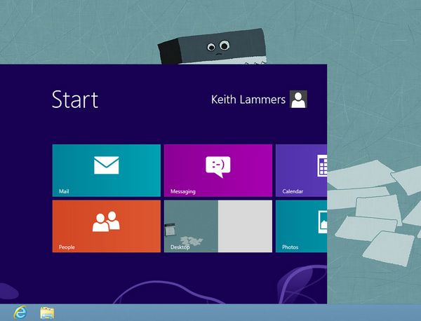 Windows 8 Tweak: Mini Start Screen
