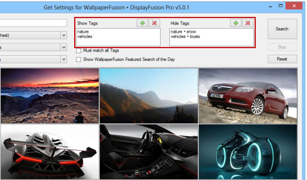 WallpaperFusion Tag Selector