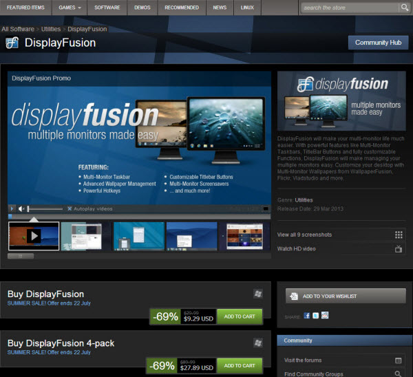 DisplayFusion Pro on Steam