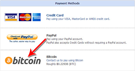 Bitcoin payment option