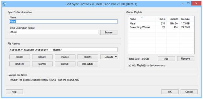 Sync Profile Editor