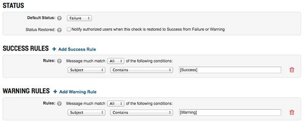 CheckCentral Rule Configuration
