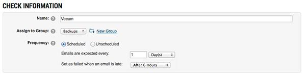 CheckCentral Schedule Configuration