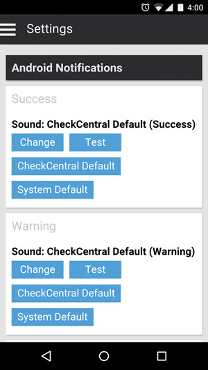 Custom CheckCentral Push Notification Sounds • Discussions