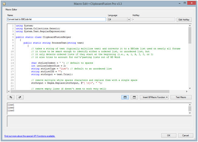 ClipboardFusion Macro Editor