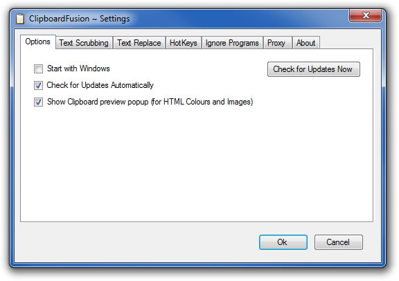 Portable ClipboardFusion full screenshot