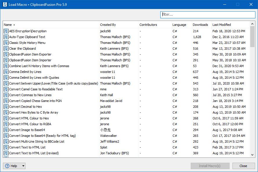 Pre-made Macro Downloader