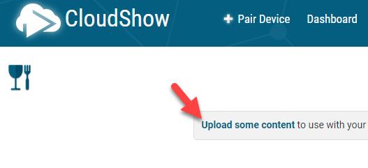 Link to Content Uploader