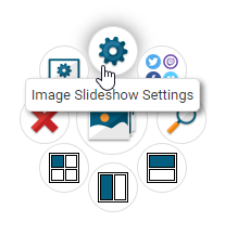 Image Slideshow Settings Button