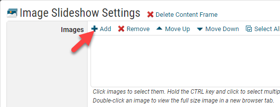 Image Slideshow Content Controls