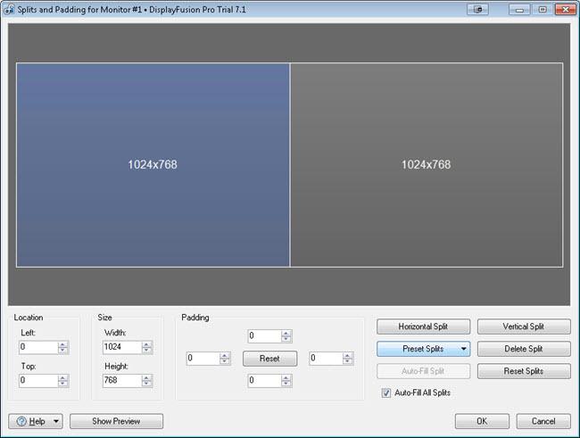 Splitting a Spanned Remote Desktop (RDP) Session