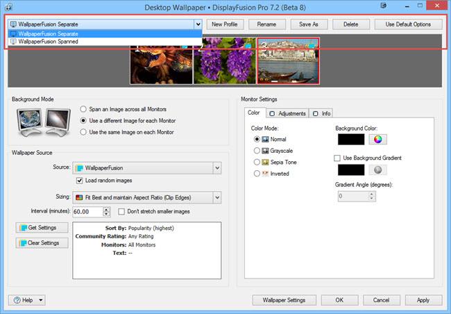 Desktop Wallpaper Profiles
