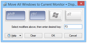 Shortcut Key Combination Editor