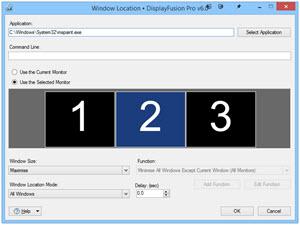 Adding/Editing a Window Location Rule