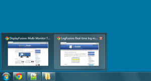 Window Previews on the DisplayFusion Taskbar