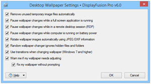 Advanced Wallpaper Settings