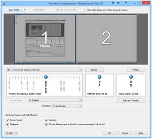 DisplayFusion Monitor Configuration Window