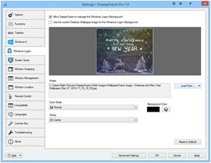 Settings > Windows Logon