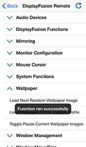 Remote Control on iOS: Functions