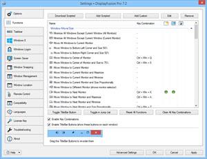 Settings > Functions Tab