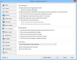 Settings > Window Management Tab
