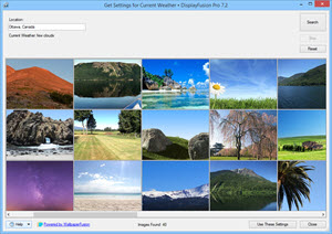 Online Wallpaper Provider: Current Weather