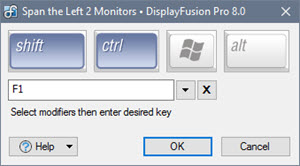 Shortcut Key Combination Editor