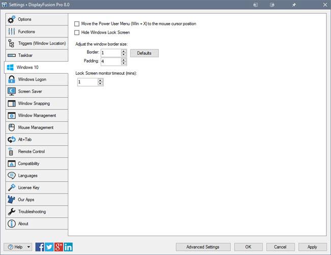 useful windows 10 tweaks features displayfusion