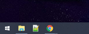 """Pinned"" shortcuts on the DisplayFusion Taskbar"