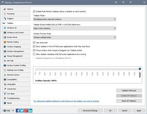 Settings > Taskbar Tab