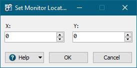 Set Monitor Location