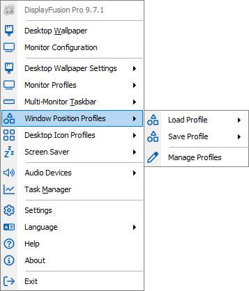 Window Position Profiles
