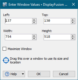 Trigger Action Size and Location