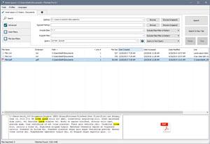 Main FileSeek Window