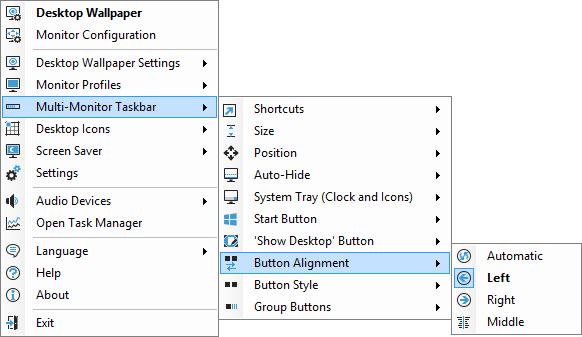 Taskbar Button Alignment