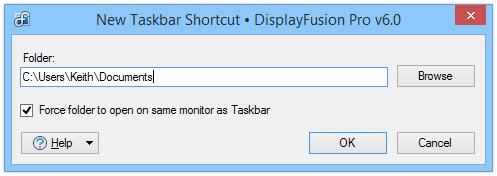 Edit Folder Shortcut