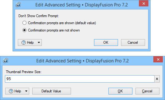 Edit Advanced Setting