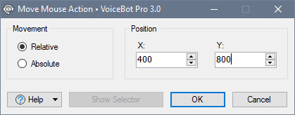 Edit Move Mouse Action