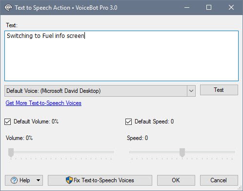 Edit Text to Speech Action