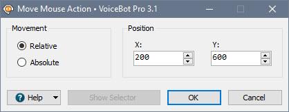 Mouse Action Edit Window